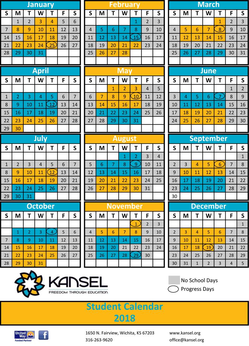 KANSEL Student Calendar